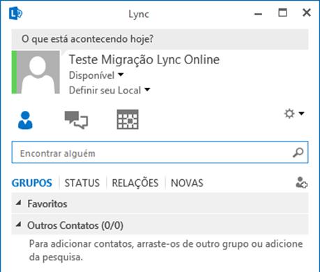 Lync Client 2013 no Lync Online