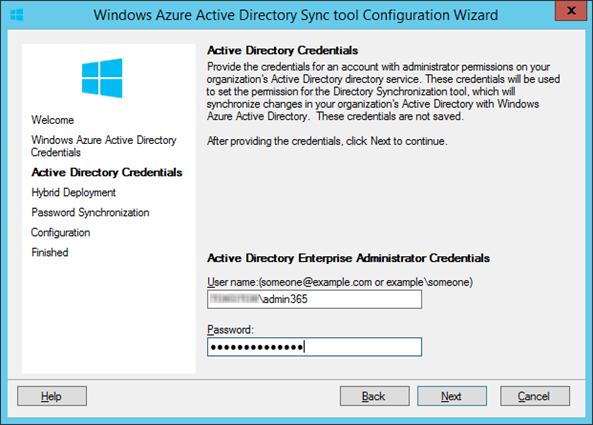 Windows Azure Active Directory tool Configuration Wizard_2