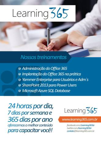 Treinamento Office 365, SharePoint, Yammer e Azure SQL Database